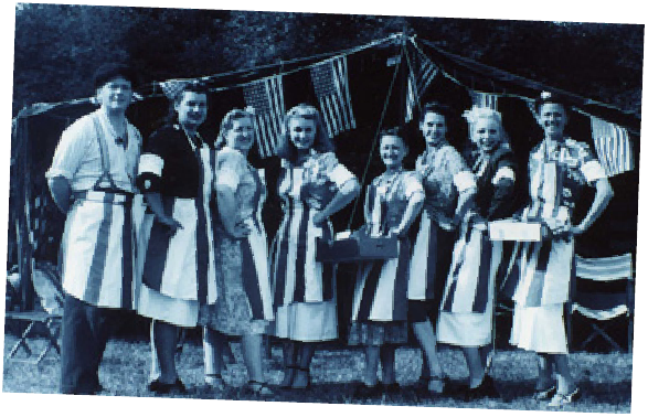 Staff of the first Stage Door Canteen in 1998