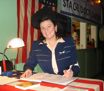 Stage Door Canteen hostess Mrs.D